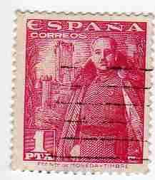 timbre: Général Franco et château de la Mota