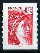 timbre: Visages de la République : Sabine de Gandon - Adhésif