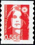 Timbre: Visages de la Ve République : Marianne de Briat Adhésif