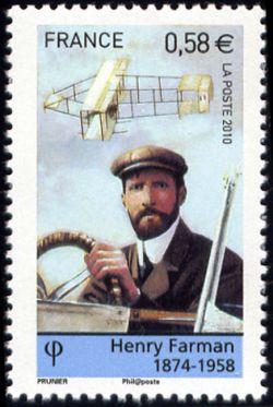 Timbre: Les pionniers de l'aviation : Farman