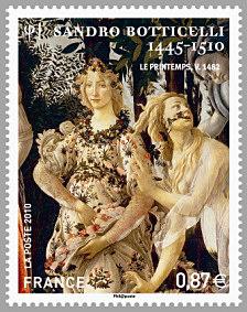 Timbre: Sandro Botticelli : Zéphyr et Flore