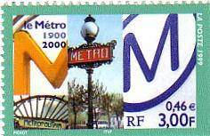 Timbre: Centenaire du métro