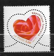 Timbre: St Valentin Rose dans un cœur
