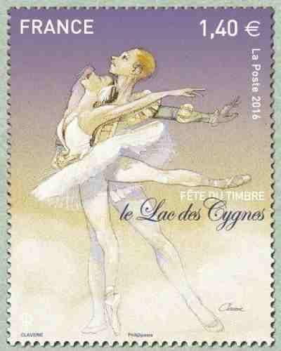 timbre: Fête du timbre - Le Lac des Cygnes