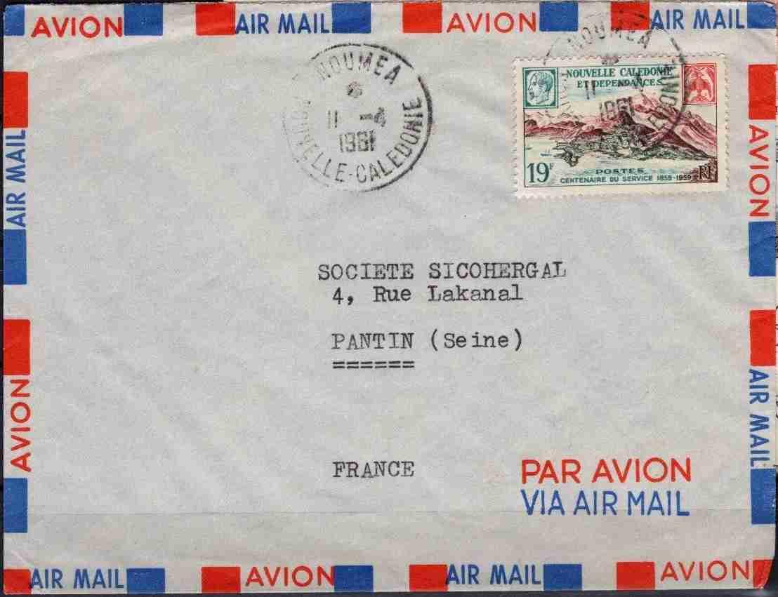 timbre: Port-de-France sur Enveloppe PAR AVION Note