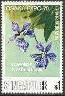 timbre: Vanda coreulea - fleur