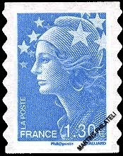 Timbre: AA0288  ** Marianne et l'Europe (Cachet rond)