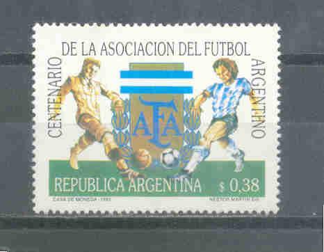 Timbre: Cent de l'Assoc Argentine de Football