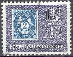Timbre: Centenaire série de timbres Cor de poste