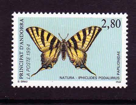 Timbre: Papillon Iphiclides podalirius