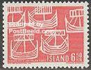 Timbre: Centenaire de la communauté scandinave , bateaux