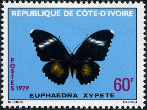 Timbre:  Papillon - Euphaedra xypete ( note)