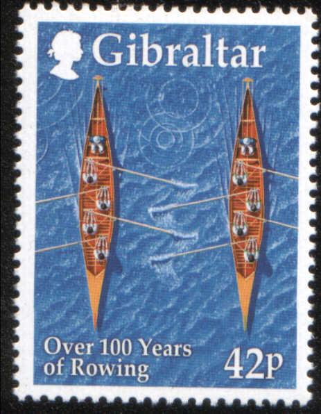 Timbre: 100 ans de l'aviron