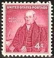 Timbre: Portrait du lexicographe : Noah Webster