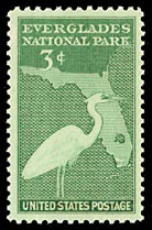 Timbre: Parc national des marais  (Note -rare)