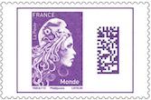 Timbre: Marianne l'engagée (Monde)