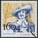 Timbre: 400e anniversaire de la fondation de la colonie de l'Il