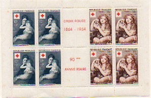 Timbre: Carnet Croix-Rouge 1954   NEUF**