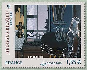 timbre: Georges braque : Le Salon