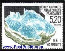 Timbre: Cristallisation minérale - Bloc de mordenite