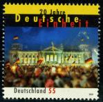 Timbre: 20 Years German unity   NON ADHESIF
