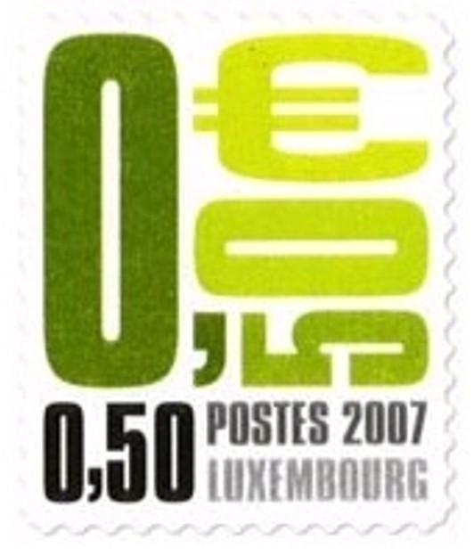 Timbre: Postocollants Vert