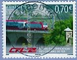 Timbre: CFL - 50 Ans Electr. des Chemins de fer -