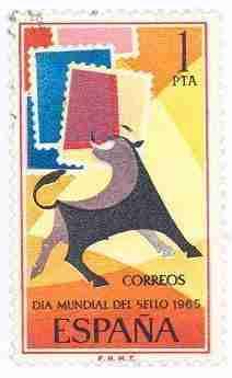 Timbre: Toro / World Stamp Day