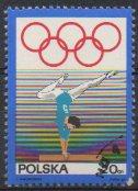Timbre: 50e anniversaire du Comité olympique polonais