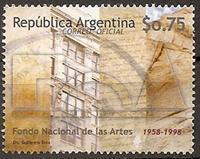 Timbre: 50 años Fondo Nacional de las Artes