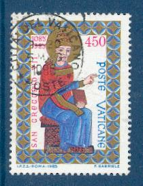 timbre: 9ème centenaire de la mort de saint Grégoire VII
