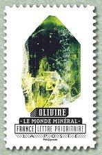 timbre: Les minéraux (Olivine)