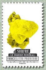 timbre: Les minéraux (Soufre)