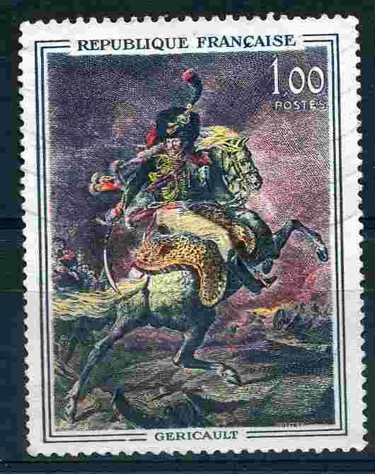timbre: Officier de Chasseurs de la Garde, de Géricault