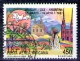 timbre: Visite de Jean Paul II en Amérique du Sud