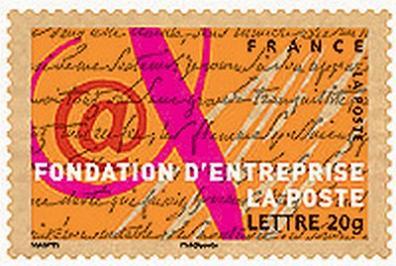 Timbre: 10eme anniversaire fondation la poste