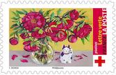 Timbre: Bouquet - Pivoines