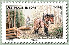 Timbre: Le débardage en forêt ( Obli vague)