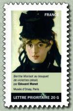 Timbre: Femme : Berthe Morisot au bouquet de violette( OV)