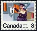 Timbre:  Sc 0638 - Service postal - Facteur