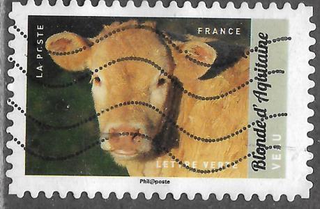 Timbre: Veau Blonde d'Aquitaine