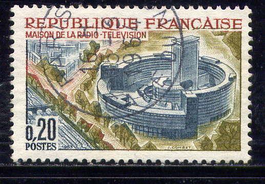 Timbre: Maison de la Radiodiffusion Télévision à Paris