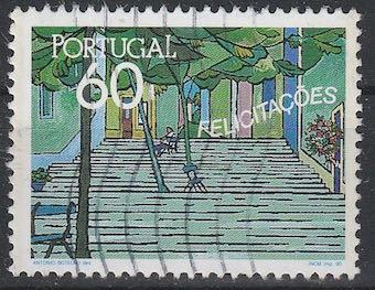 Timbre: Timbres de vœux, escaliers et arbres