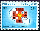 Timbre: 2e rallye des scouts et guides de France