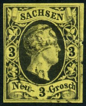 timbre: Frédéric Auguste II  SAXE