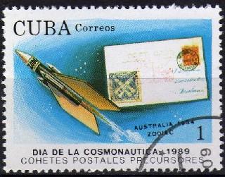 timbre: Journée de l'espaceZodiac australien 1934