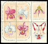 timbre: Noël. Orchidées celui du bas à gauche
