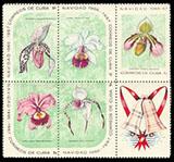 timbre: Noël. Orchidées celui du bas gauche