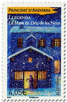 Timbre: Andorre Français : La Vierge des Neiges