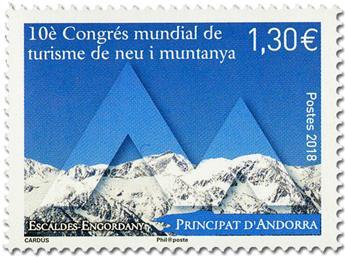 Timbre: And Fr : 10è congrés mondial tourisme de montagne